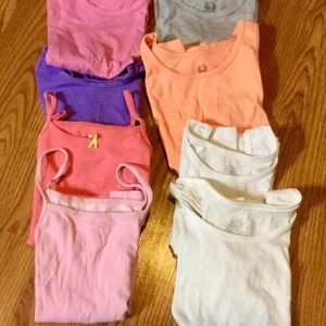 8 Toddler girl Under tee shirts size 4/5